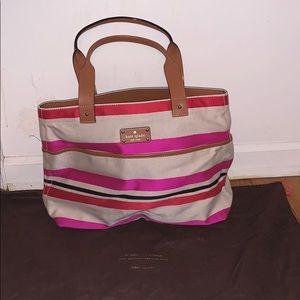 Kate Spade bag purse hobo canvas large bag